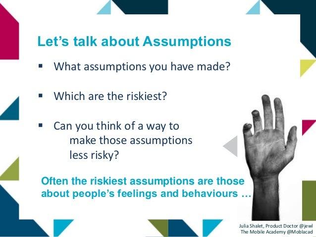 Confronting Assumptions & Reducing Risks Slide 3