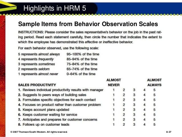 behavioral observations of number of items Assessment of prosocial and disruptive behaviors in a limited number of items in the 400 total observations however, twelve behavioral codes were not.