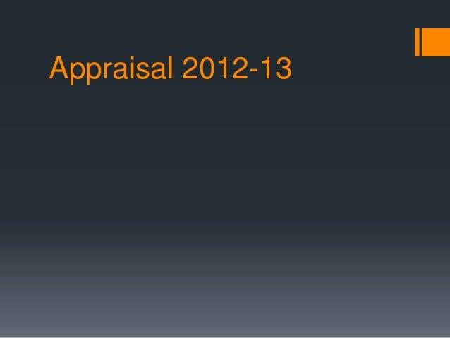 Appraisal 2012-13
