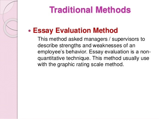 appraisal method 6 straight ranking method