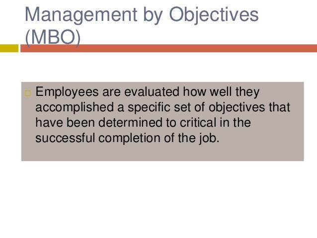 management by objectives essay