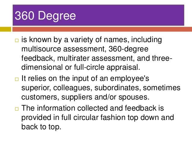 Supervisors  Peers  Subordinates  • Supervisor: • Best position to evaluate performance in relation to strategic organizat...