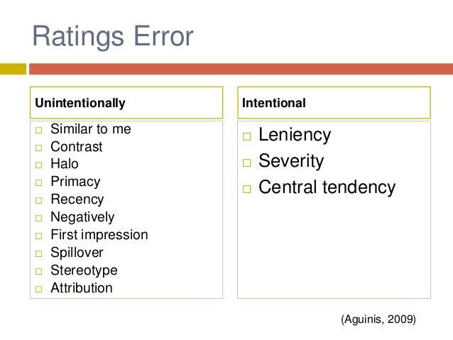A Study in polytechnic in Takoradi, Ghana (Boachie-Mensah & Seidu, 2012) Effect from Appraisal Error  The most common erro...