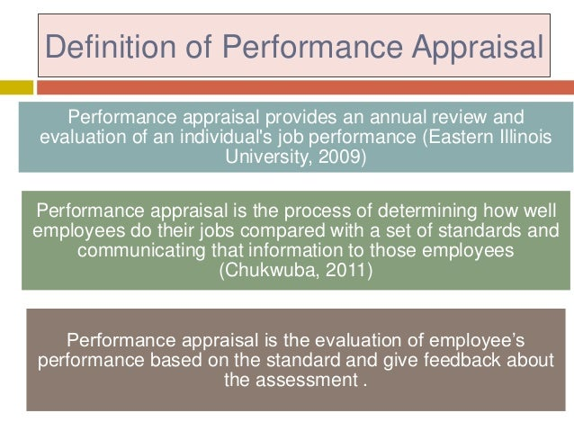 Chapter 5: Performance Appraisal