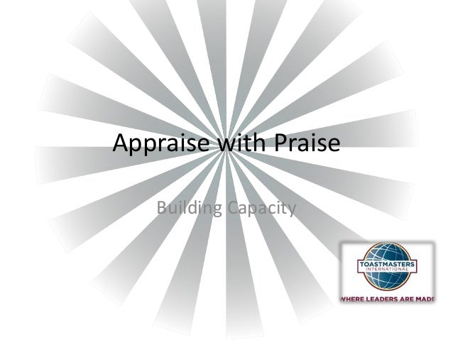 Appraise with Praise Building Capacity