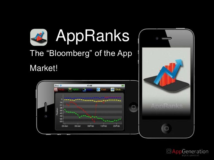 """AppRanks<br />The """"Bloomberg"""" of the App Market!<br />"""