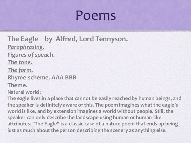 The Eagle by Alfred Lord Tennyson: Summary & Analysis ...