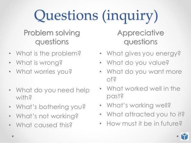 appreciative inquiry interview questions essay