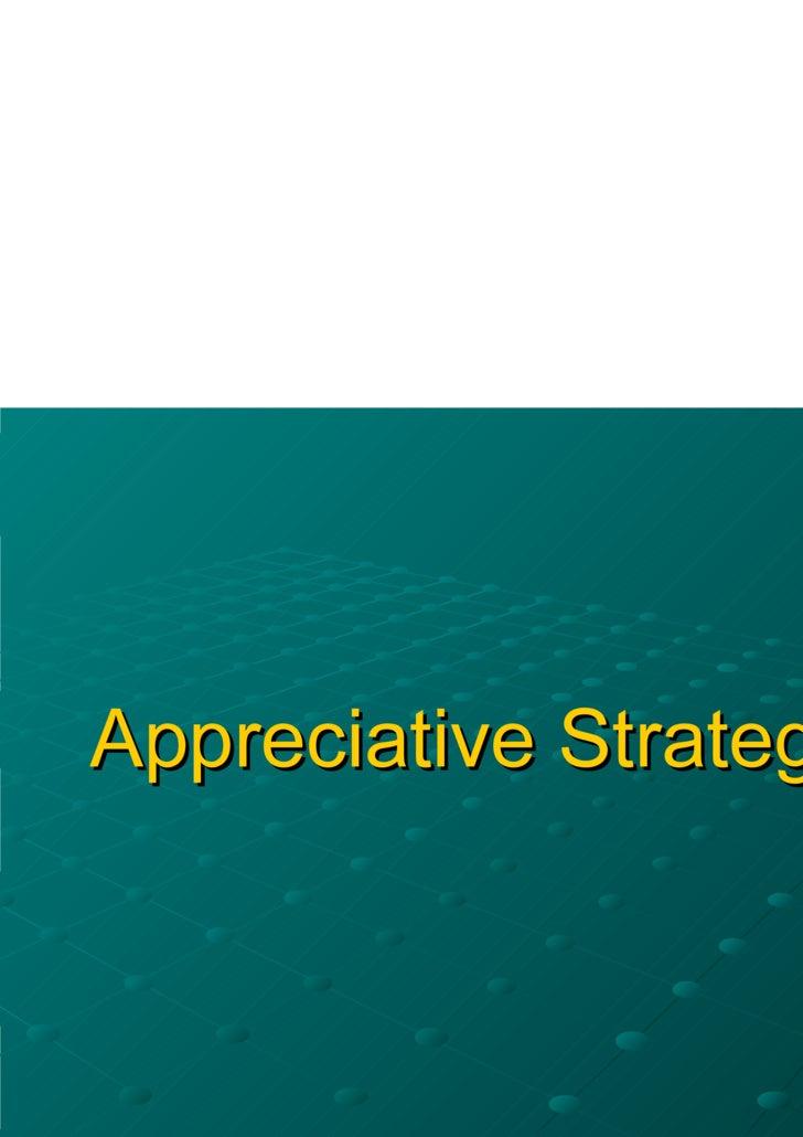 Appreciative Strategy