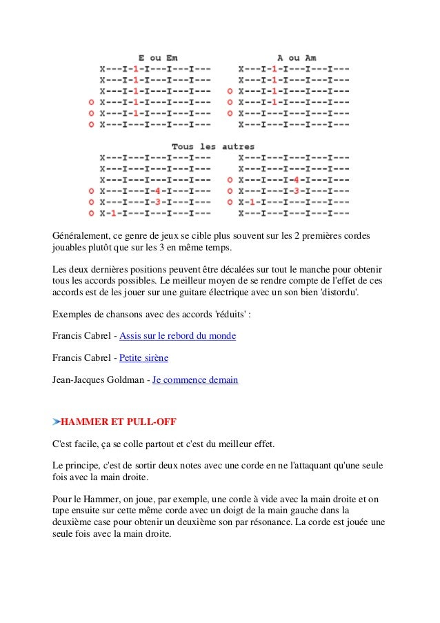 apprendre a jouer la guitare pdf