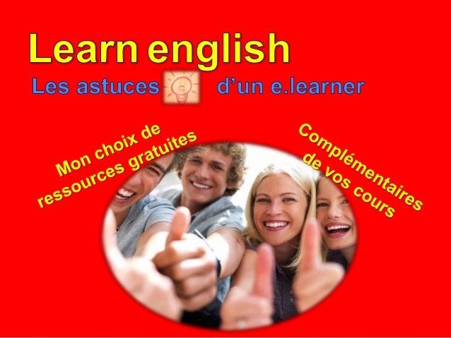 Utiliser les technologies la collaboration et le partage pour apprendre l'anglais.