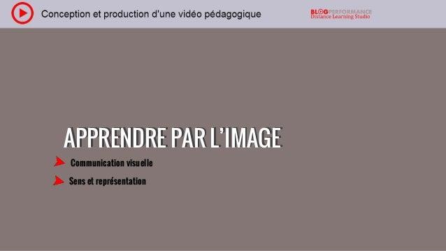 APPRENDRE PAR L'IMAGEAPPRENDRE PAR L'IMAGE Communication visuelle Sens et représentation