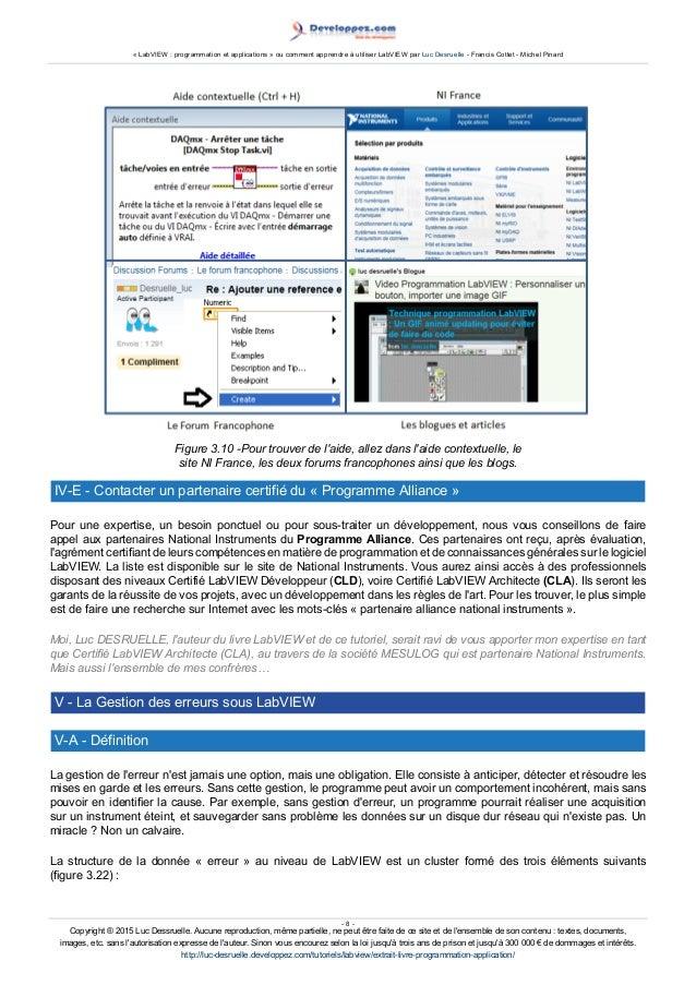 U00ab Labview   Programmation Et Applications  U00bb Ou Comment Apprendre  U00e0 Ut U2026