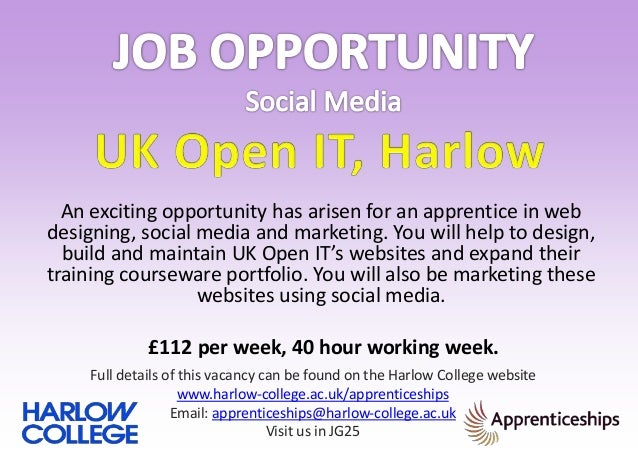 An exciting opportunity has arisen for an apprentice in web designing, social media and marketing. You will help to design...
