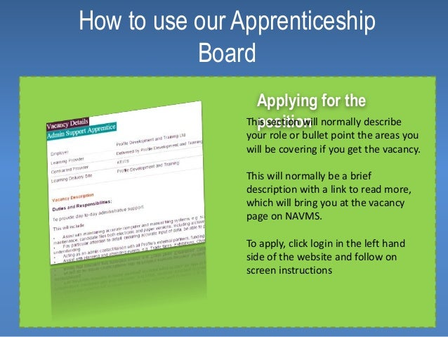 how to get an apprenticeship