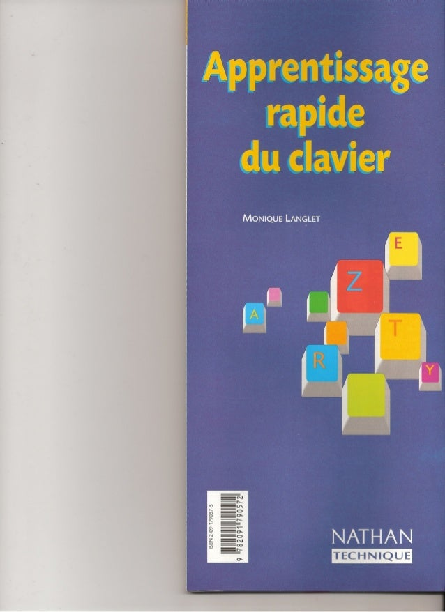 Apprentissage rapide du clavier monique langlet