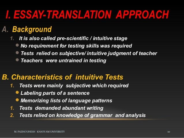 approaches to language testing pazhouhesh khayyam university 10 i essay translation