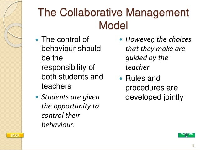 Collaborative Theory Of Classroom Management ~ Approachesandmodelsofclassroom modifiedwprev
