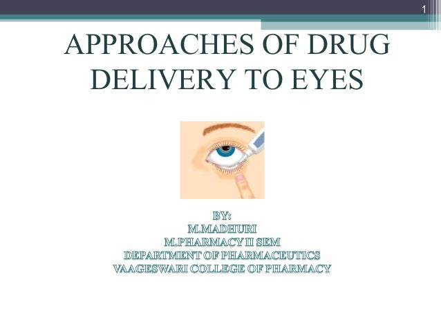 1  APPROACHES OF DRUG DELIVERY TO EYES