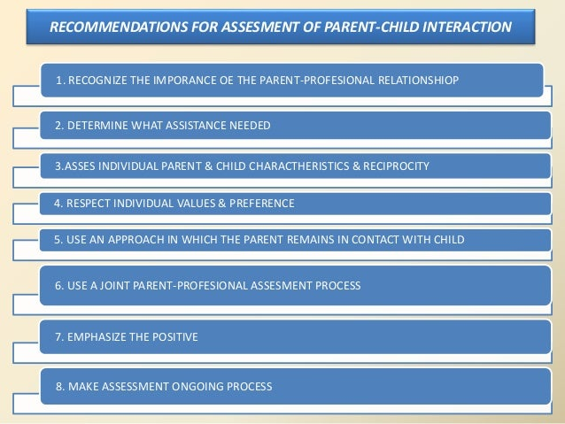 parent child interaction observation Interactions are found when a given  and preliminary observations indicate that  calm  these studies point to a mediating role of parenting: children whose  parents suffer.