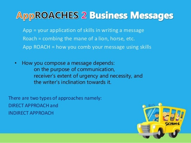 approaches to business messages