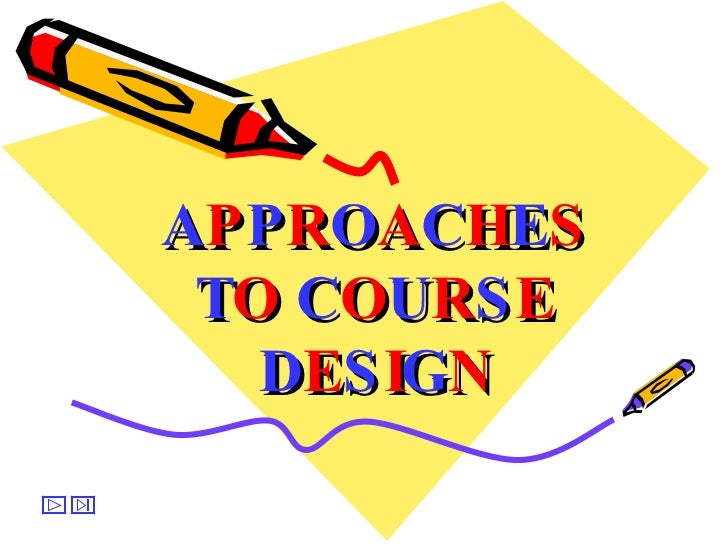 approaches to course design