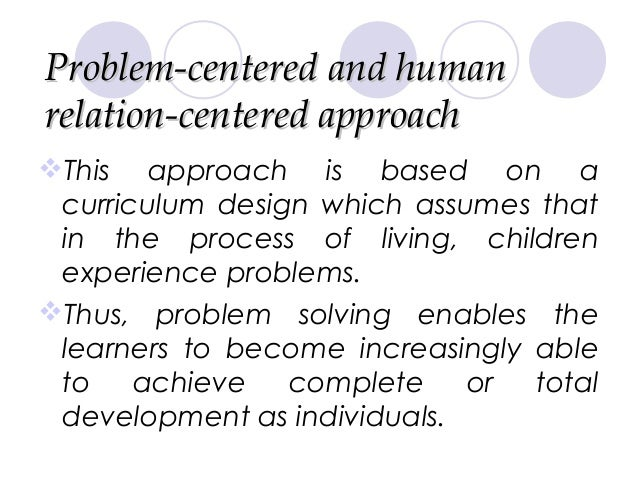 subject centered curriculum