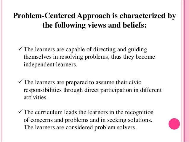 problem centered curriculum pdf