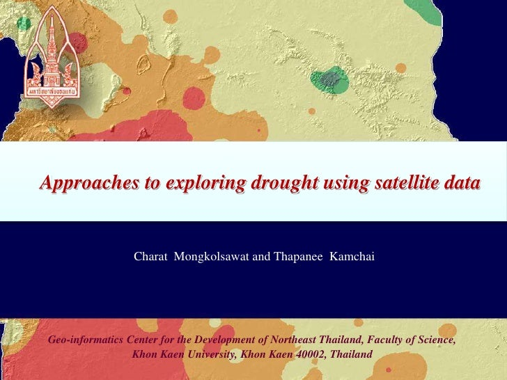 Approaches to exploring drought using satellite data