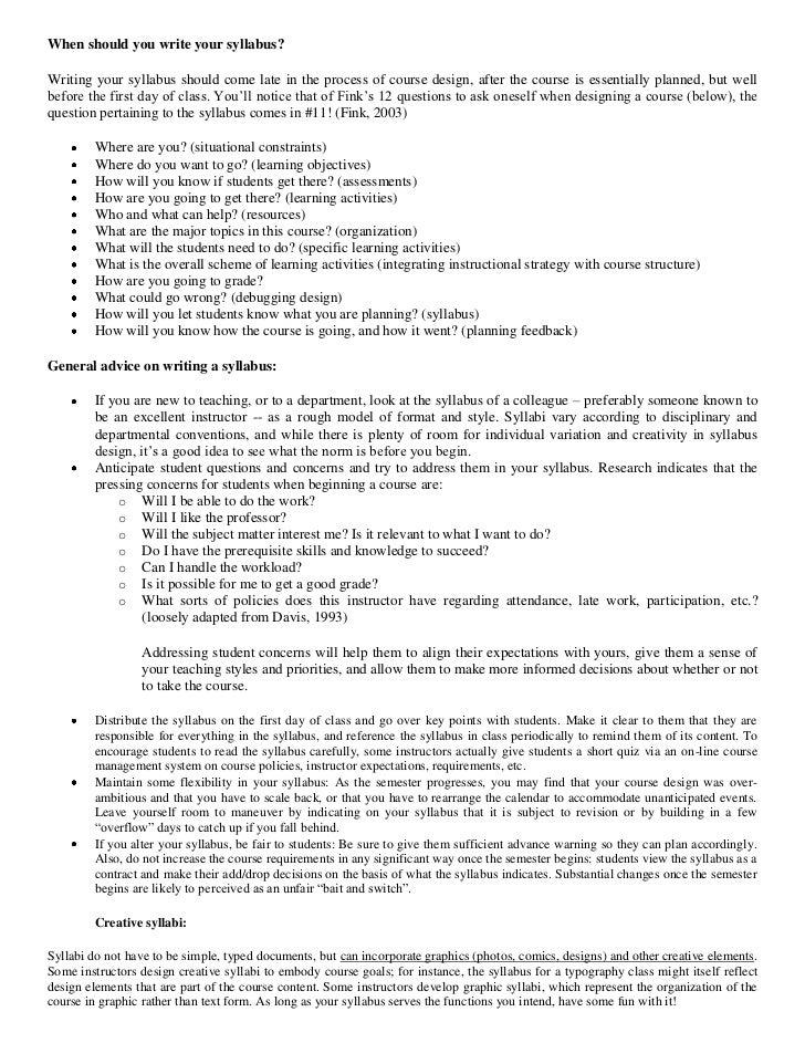 Syllabus research paper