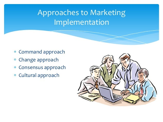 Approaches to Marketing           ImplementationCommand approachChange approachConsensus approachCultural approach