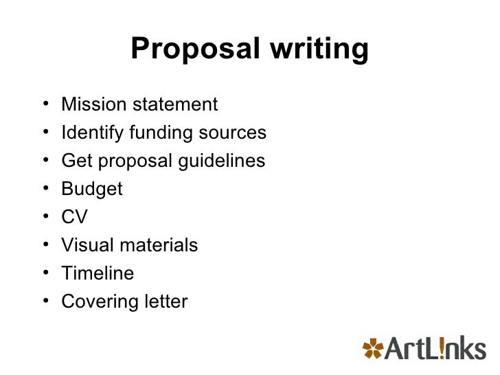 Writing an art proposal