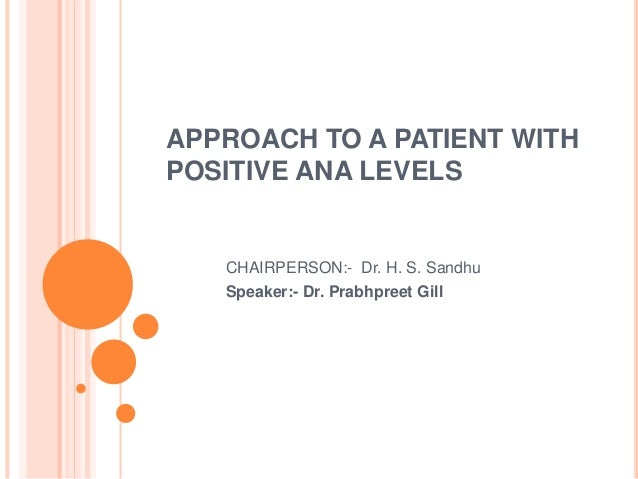 Approach To A Patient With Positive Ana Levels 2