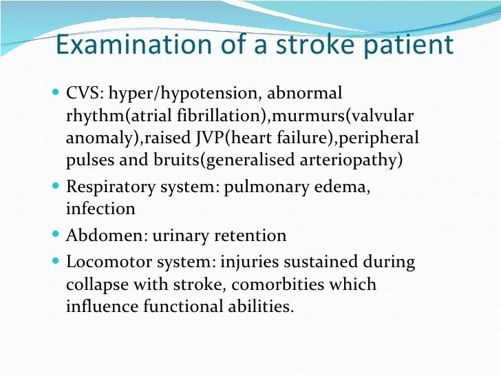 Approach To A Patient With Stroke Epic Win on Embolic Vs Thrombotic Stroke