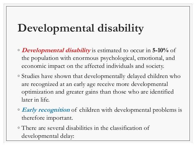 approach to developmental delay