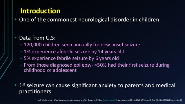 Seems excellent unprovoked seizures adults