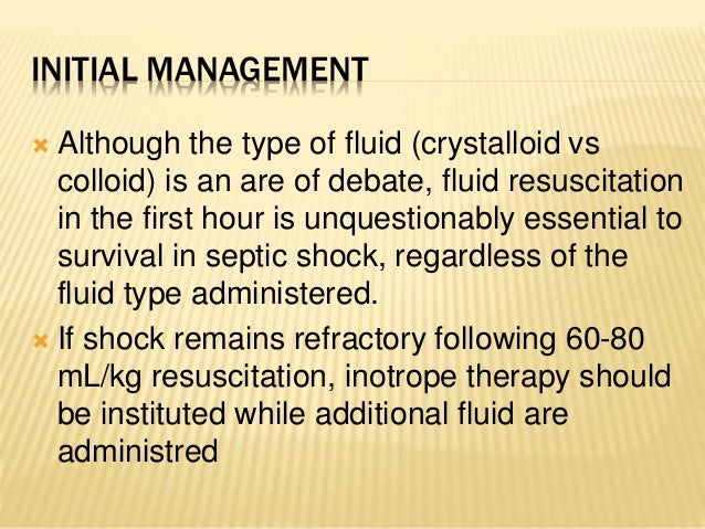 Approach to hypovolemic and septic shock