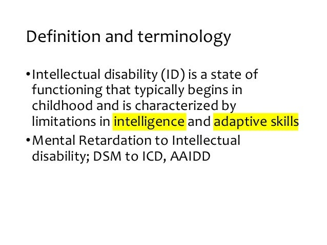 Approach To Intellectual Impairments