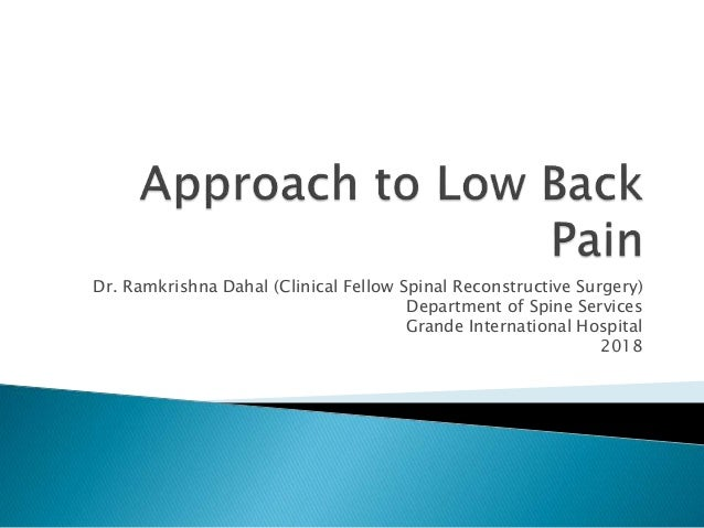Dr. Ramkrishna Dahal (Clinical Fellow Spinal Reconstructive Surgery) Department of Spine Services Grande International Hos...