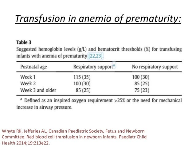 Approach to neonatal anemia