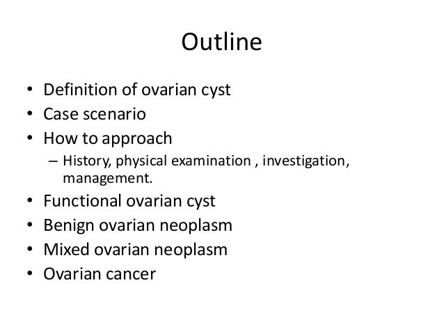 approach to patient with ovarian cysts, Human Body