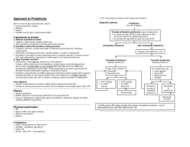 Approach to Proteinuria                                                                           KIV Urine phase contrast...