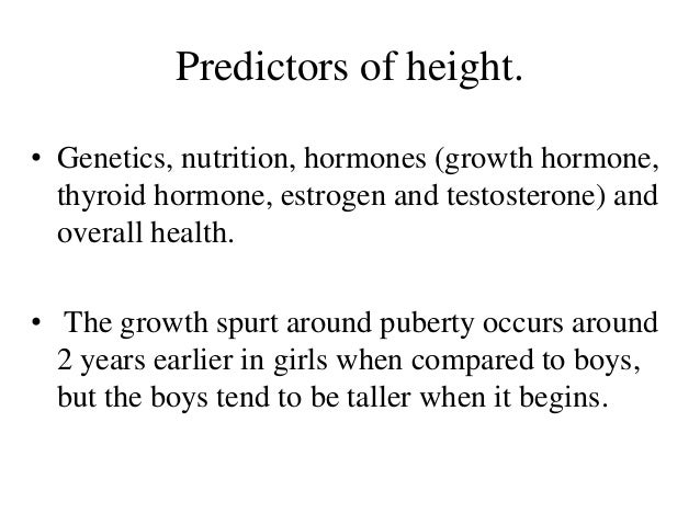 Approach To Tall Stature