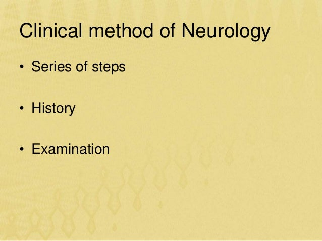 Approach to the patient with neurologic disease gk