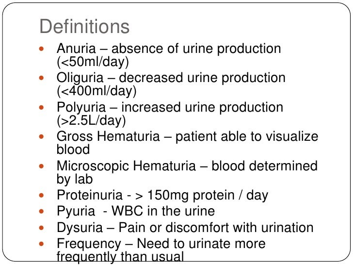 Approach to the Patient with Renal Disease