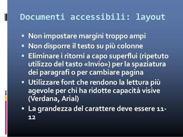 """Cosa fare per rendere un documento accessibile  Usare i cosiddetti """"caratteri nascosti"""" (visualizzabili nella """"Tabella ca..."""