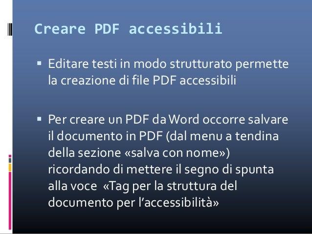 Creare PDF accessibili