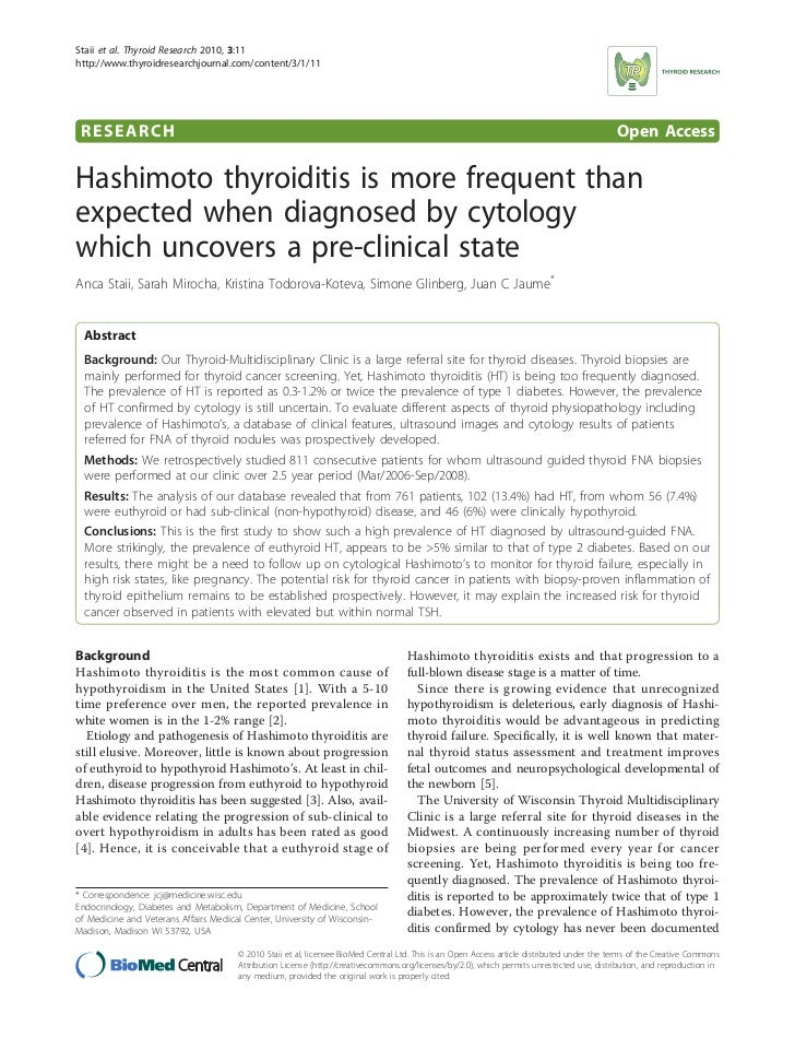 Staii et al. Thyroid Research 2010, 3:11http://www.thyroidresearchjournal.com/content/3/1/11 RESEARCH                     ...