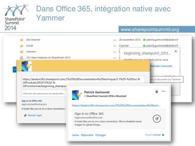 Approfondissons la nouvelle architecture sociale de sharepoint 2013 e - Yammer office 365 integration ...