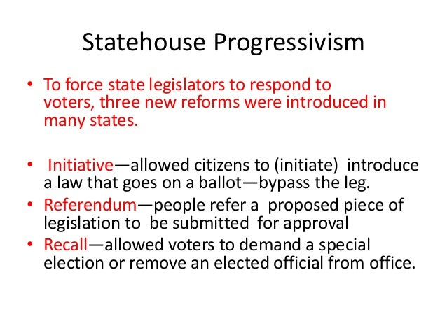 Recall Election Progressive Era Ap progressive era